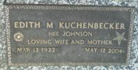 Edith M Kuchenbecker, geb. Johnson